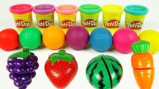 Learn Colors Play Doh Clay Mods Fruits Cutting Toys for Kids