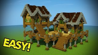 Minecraft: Starter Base Tutorial - Wooden Minecraft House