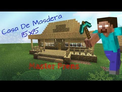 Como hacer una casa moderna de madera 15x15 en minecraft - Como hacer casa de madera ...