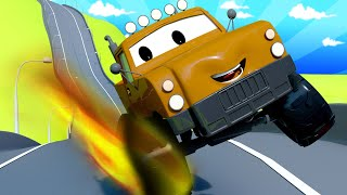 Tom the Tow Truck - Marley the Monster Truck 4 - Car City ! Cars and Trucks Cartoon for kids