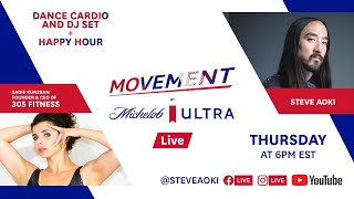 Dance cardio workout with 305 Fitness + Steve Aoki DJ set | MOVEMENT by Michelob ULTRA LIVE