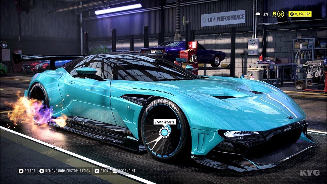 Need For Speed Heat Aston Martin Vulcan 2016 Customize Tuning Car Pc Hd 1080p60fps Youtube