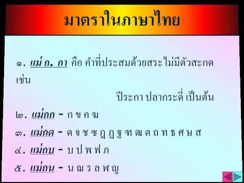 สื่อการสอน  หลักภาษาไทย