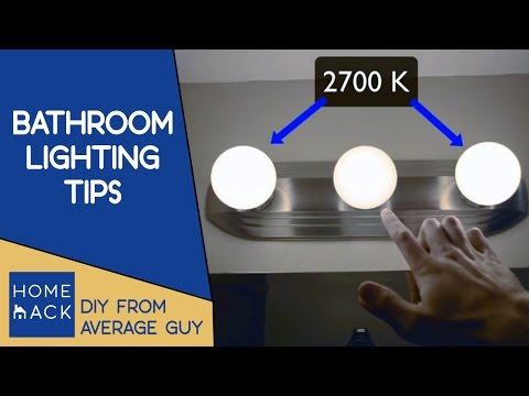 Lighting for bathroom vanity