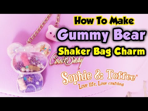 WATCH ME RESIN - Gummy Bear Shaker Bag Charm - Sophie and Toffee February Elves Box 2019
