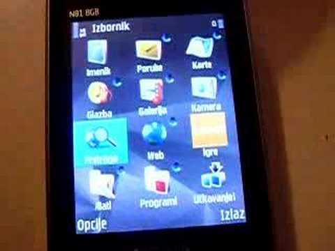 Nokia N81 8GB multitasking