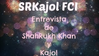 Entrevista con ShahRukh Khan y Kajol en Nueva York - parte 1