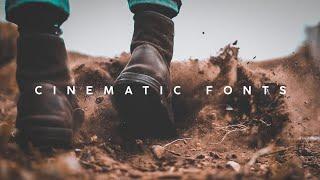 10 Best Cinematic Fonts -2019