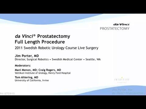 Dr Jim Porter Davinci Prostatectomy Full Length Procedure Youtube