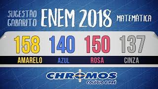 Gabarito ENEM 2018 CHROMOS - Prova Amarela: Questão 158 | Matemática