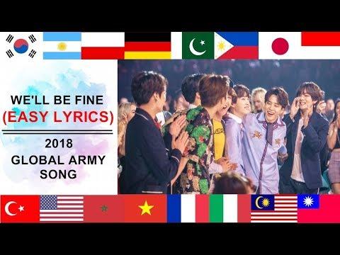 We'll Be Fine - 2018 Global ARMY Song (EASY LYRICS) | Lyrics by Debby