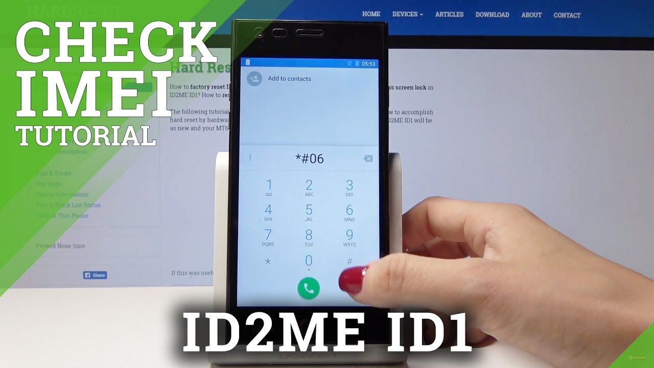 How to Check IMEI number in ID2ME ID1 - Locate Serial Number