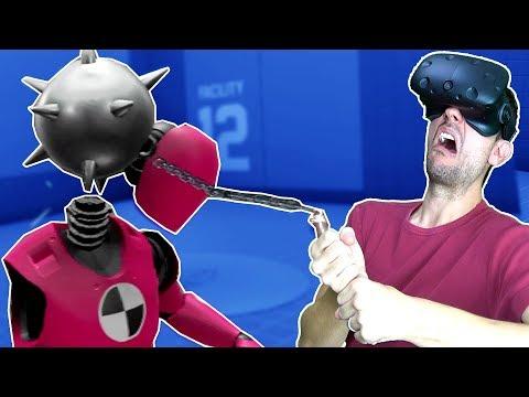 CRASH TEST DUMMY DESTRUCTION IN VR! Total Stress Reduction! - Rage Room HTC VIVE Gameplay