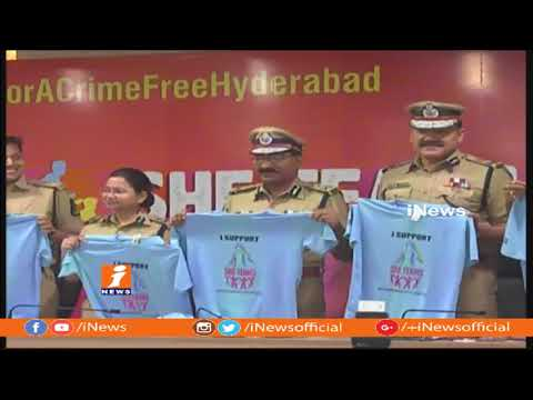 DGP Mahender Reddy Launches She Teams 10k Run Poster In Hyderabad | National Women's Day | iNews