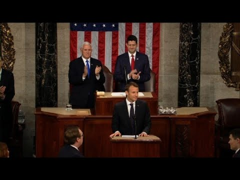 France's Macron gets 3-minute ovation from US Congress
