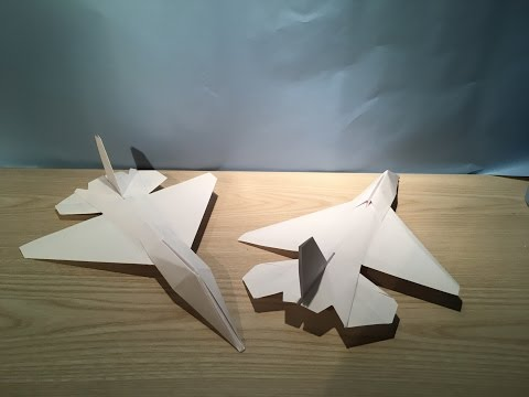 how to make an f 16 falcon paper plane