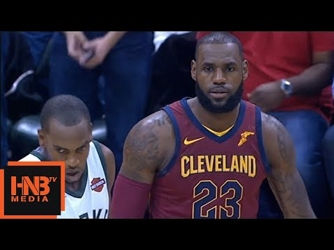 Cleveland Cavaliers vs Milwaukee Bucks 1st Half Highlights / Week 1 / 2017 NBA Season