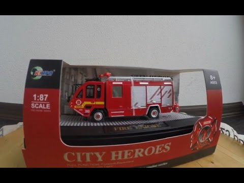 city heroes fire engine model mini rc hasi i 1 87 youtube. Black Bedroom Furniture Sets. Home Design Ideas