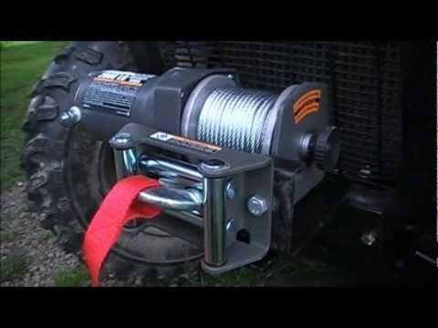 Assembling A Winch Mount Amp Badland Winch On A Atv 4 Wheeler Youtube