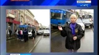 Автобус въехал в дом в Иркутске, ''Вести-Иркутск''