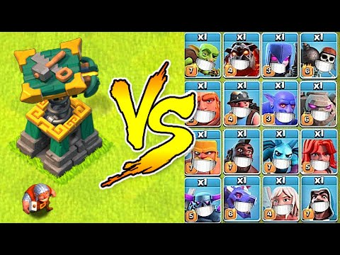"""New Battle Builder vs. Every Troop in the Game! """"Clash Of Clans"""" Super troops vs. BB - Godson - Gaming"""
