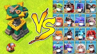 "New Battle Builder vs. Every Troop in the Game!  ""Clash Of Clans"" Super troops vs. BB"