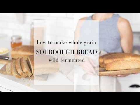 How to Make Whole Wheat Sourdough Bread | WILD YEAST BREAD RECIPE | Sourdough Bread Making Video