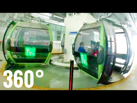 Cable Car China Huangshan Mountain [Best 360 VR videos]