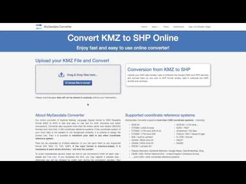 How to convert KMZ to SHP