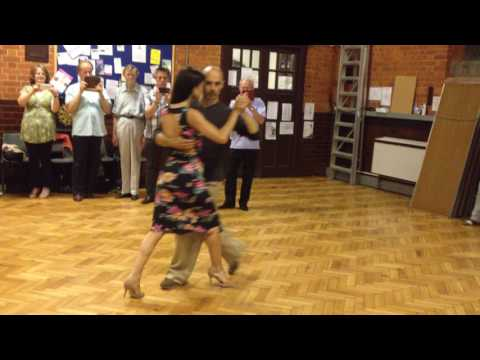 Richard Manuel & Paula Duarte after- class demonstration at Reading Tango Club
