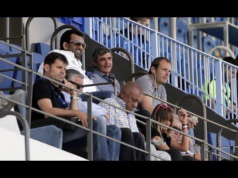 Juande Ramos siguió al filial en La Rosaleda