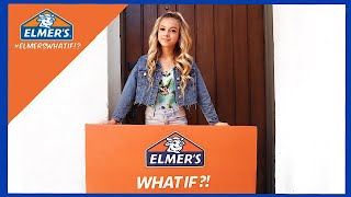 Elmer's What If!? Challenge | DIY Slime Salon | Coco Quinn