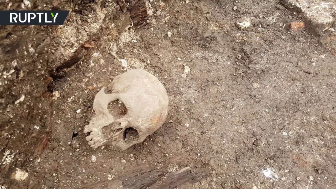 Buried deep: Nearly 30 graves containing possible plague victims uncovered in Tula, Russia