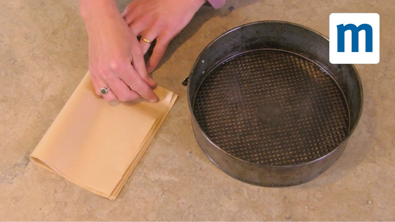 How To Line Round Cake Tin