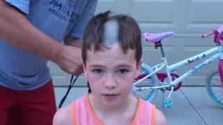 Shaving Caiden's Head Summer 2016