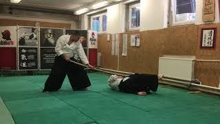 Tachi dori shomen uchi yonkio, shihonage, kokyu ho