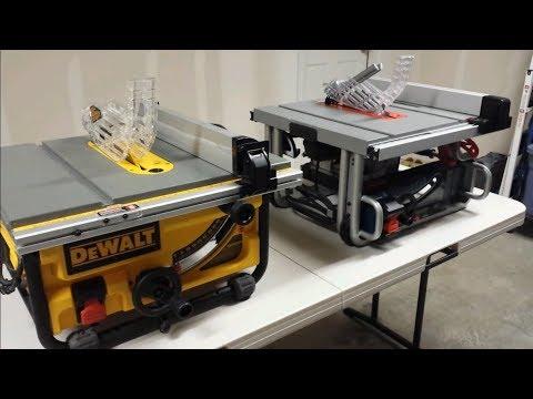 DeWalt DW745 Vs Bosch GTS1031 Jobsite Saws