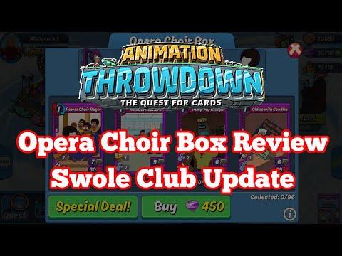 Animation Throwdown Opera Choir Box Review and Swole Club Updates