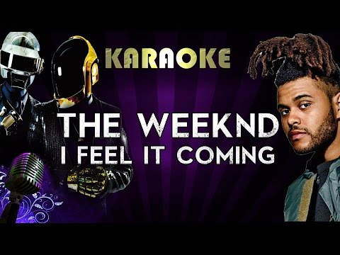 The Weeknd Ft. Daft Punk - I Feel It Coming | Official Karaoke Instrumental Lyrics Cover Sing Along