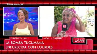 """Esta enana que empezó ayer"", La Bomba Tucumana se cruzó con  Lourdes Sánchez"