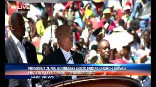 President Zuma addresses Good Friday church service
