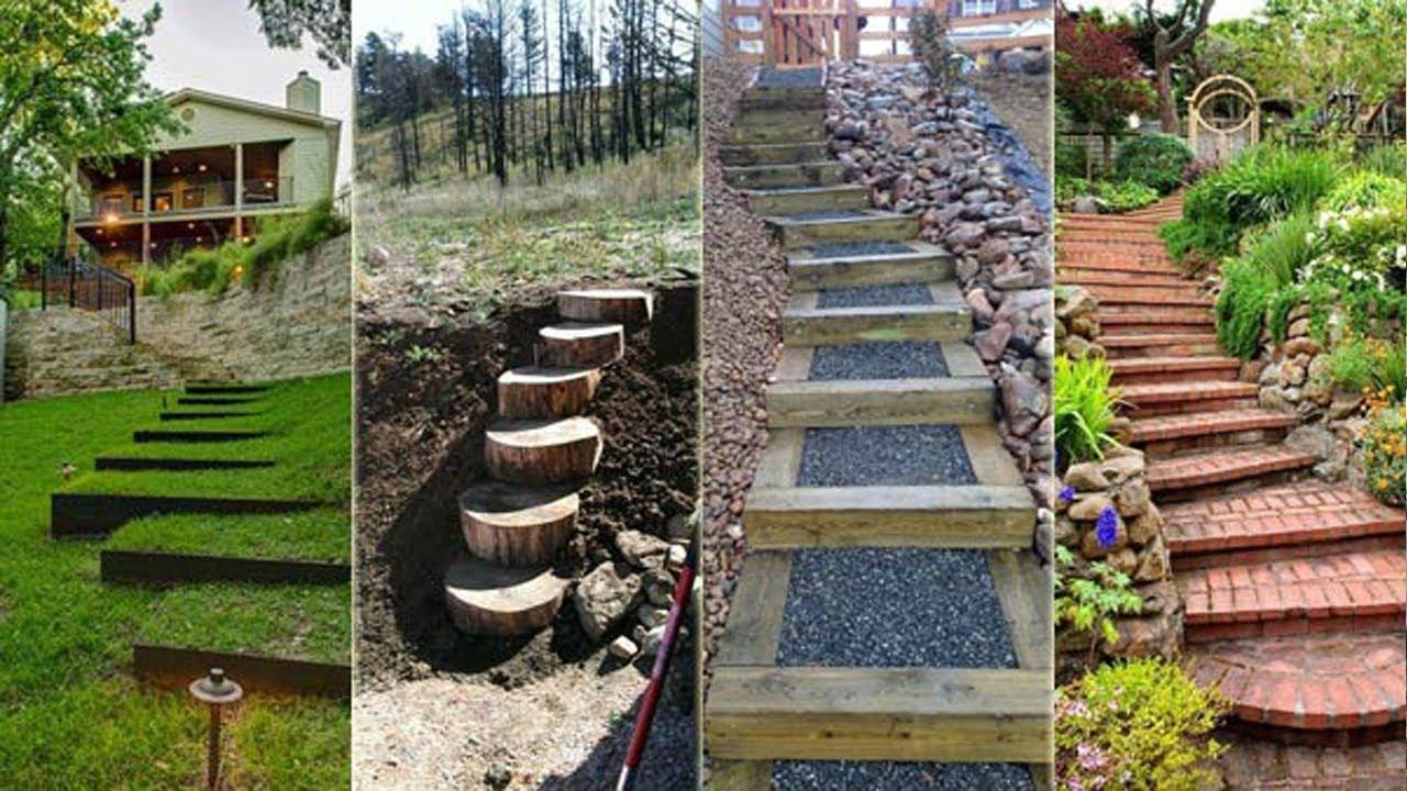 modern garden stairs design ideas