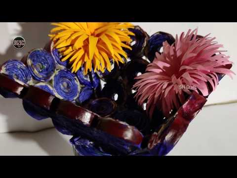 #Paper Craft How to make flower carrier simple acraft making ideas.
