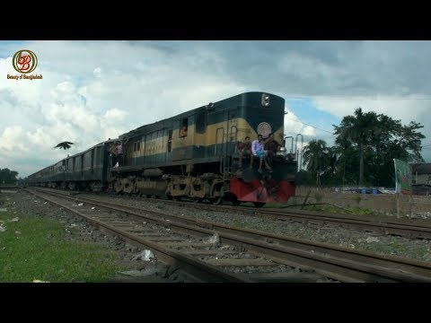 Bogra Express, Amazing rail road Santahar to Bogra. বগুড়া এক্সপ্রেস............