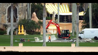 Donald Trump's Helipad at Mar-a-Lago Is Demolished After His Presidency Ends