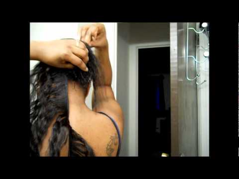 EASY!!! How To Apply Wet & Wavy Ponytail