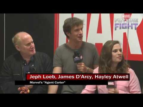 Spy Stuff with Hayley Atwell & James D'Arcy on Marvel LIVE! at San Diego Comic-Con 2015-