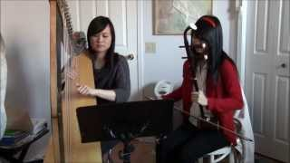 Miracles in December (harp and erhu cover)
