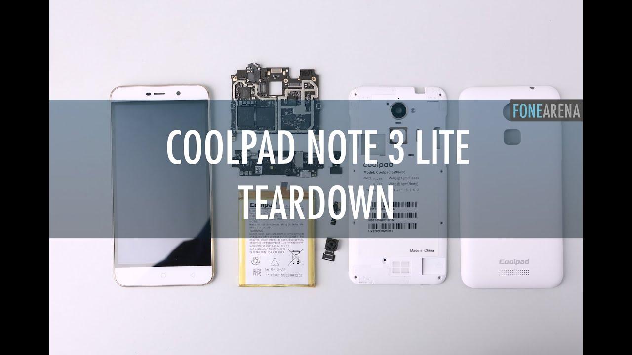 Coolpad Note 3 Lite Teardown