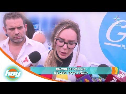 Belinda rompe en llanto frente a las cámaras | Hoy